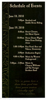 The schedule of events