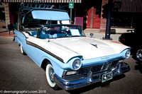 A 1957 Ford Skyliner that won last year and will not be judged in this years competition
