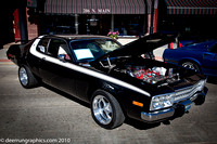 A 1974 Plymouth Barracuda that won last year and will not be judged in this years competition